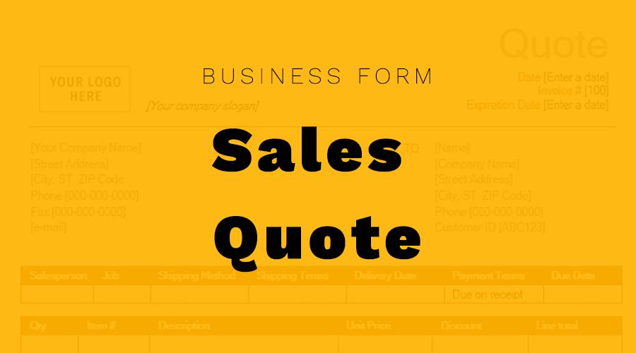 Sales Quote - Ironwood Finance, Inc.