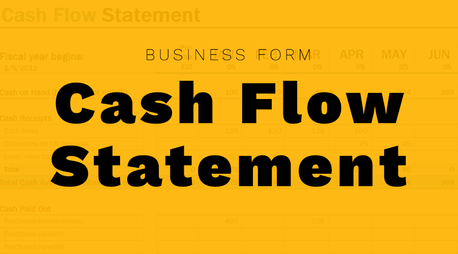 small business cash flow statement