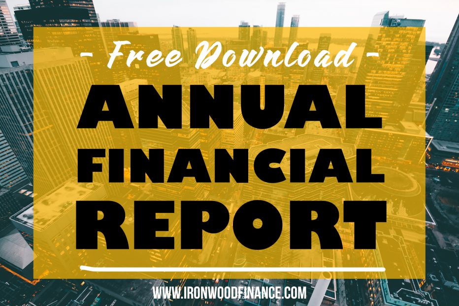 financial report, ironwood finance, funding, lending, financial report template, small business, track my finances