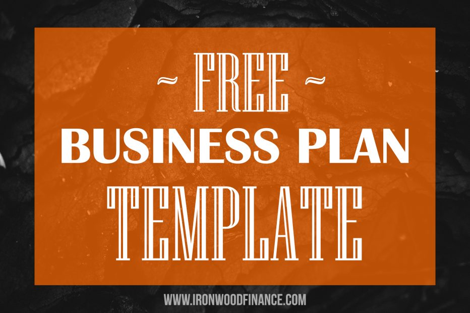 business plan template, business planner, small business, ironwood finance, lending, how to start a business