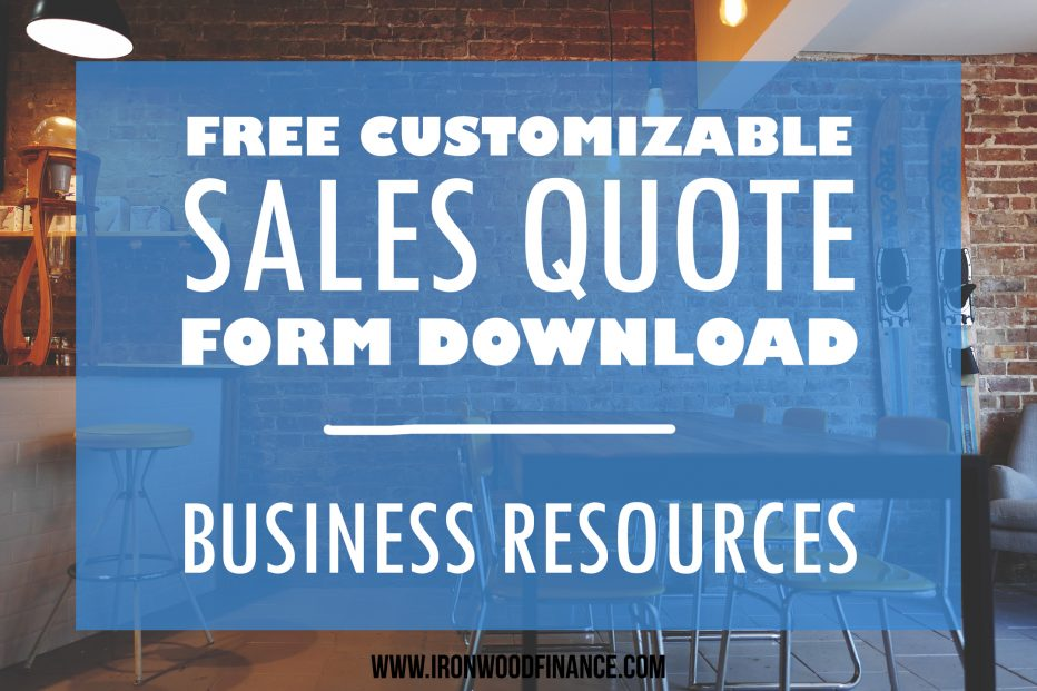 sales quote sample, free download, free sales quote, business forms, downloadable business forms