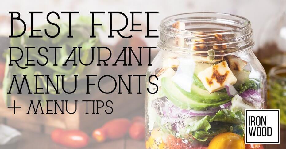 Restaurant Menu Fonts, free fonts, menu font, free menu font, restaurant font, best typeface, restaurant typeface, menu typeface, restaurant graphic design, menu design, restaurant branding, menu branding, restaurant logo